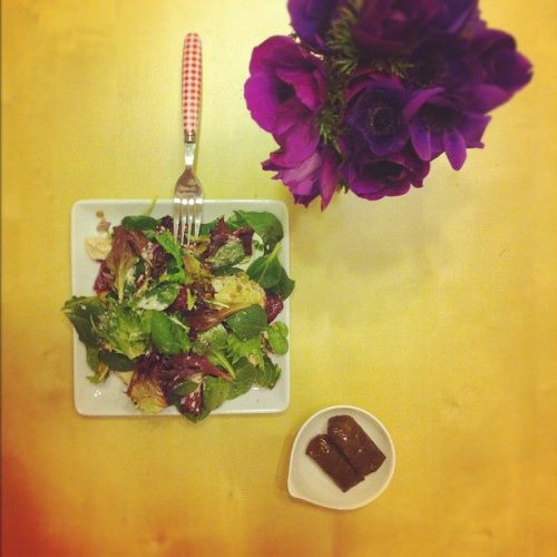 Dinner 03/04/2012 Salad + 2 Grape Leaves