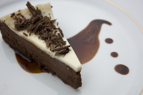 nutella mocha affogato chocolate cheesecake! (recipe)