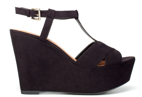 I like the proportions of the Zara T-Bar wedge. I have accepted the reality that I despise wearing heels unless they are comfortable platform wedges, so these fit the requirements.