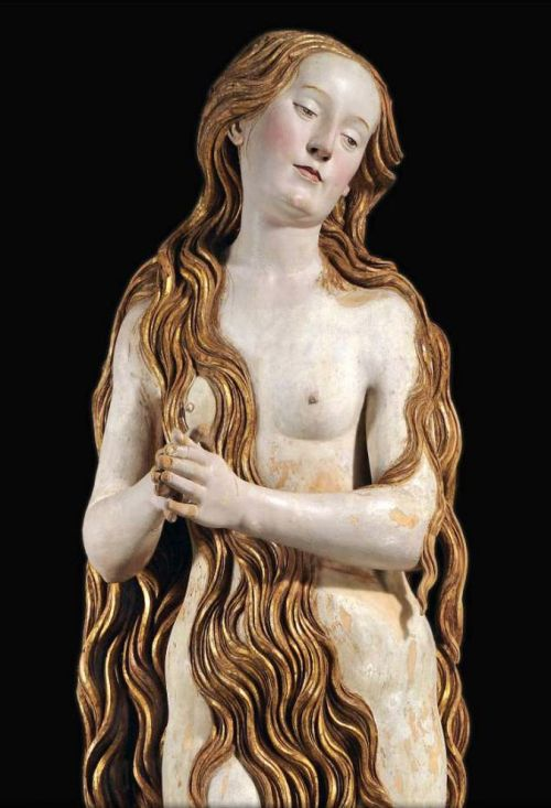 Mary Magdalene (aka The beautiful German), 1510, by Gregor Erhart    GPOY.