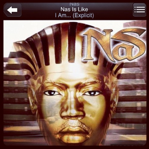 "#NP Nas "" Nas is like "" #Djpremier #queensbridge #nastynas #esco #instahiphop  (Taken with instagram)"