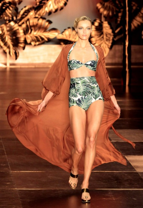 Adriana Degreas Summer 2012 High-waist Swimsuit Source: sanfrancisco