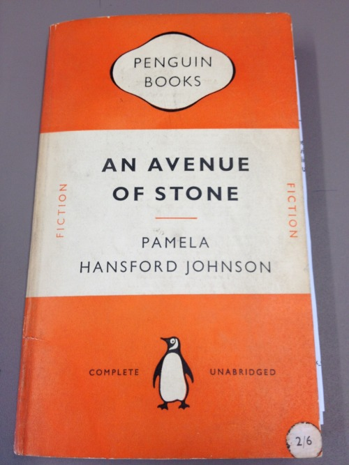 Penguin paperback number 921 is our classic cover today, for An Avenue of Stone by Pamela Hansford Johnson.