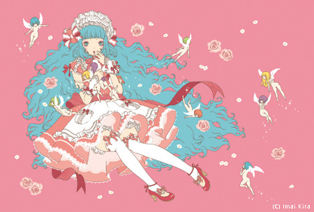 Sweet Lolita Fashion Illustration by Imai Kira