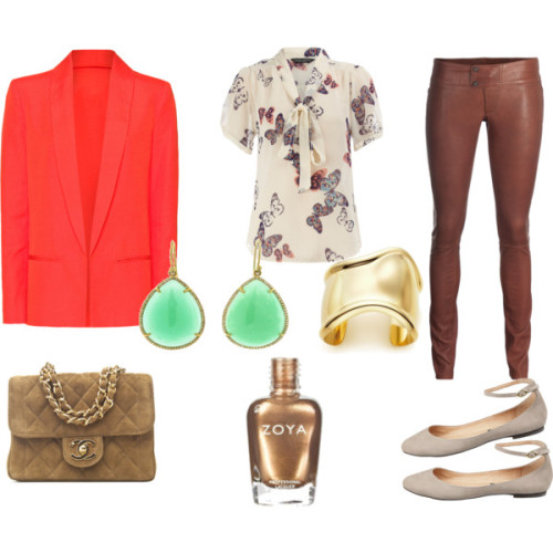 i want spring by sheenatschang featuring slimming leggingsDorothy Perkins blouse, $45Mango jacket, £80SLY 010 slimming legging, €798Tiffany Co cuff bangle, $10,800Irene Neuwirth gold earrings, $9,660Zoya Nail Polish | Richelle | ZP462, $8Kamelia, $100
