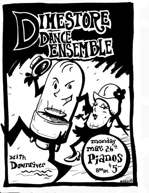 Flier for guitarist Jack Martin's Dimestore Dance Ensemble. 2003