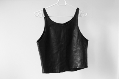 blackcosmic:  leather crop