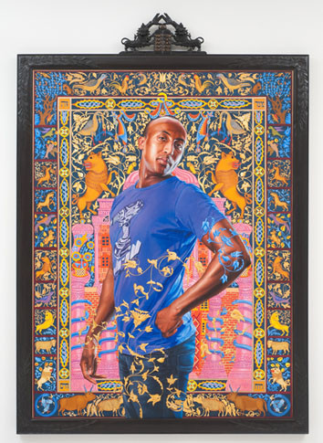 huffingtonpost:  huffpostarts:  (via Kehinde WIley's 'The World Stage: Israel' On View At The Jewish Museum) Wiley continues to give a voice to the underrepresented with new show.  Love it.   Self, look into this artist.