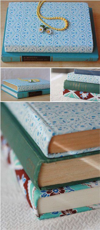 hellosmitten:  fabric covered book |tutorial | amyjdelightful