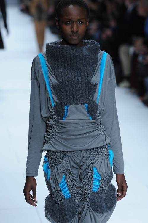Great 3D texture play at Issey Miyake yesterday #pfw