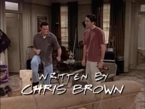 """Friends"" Episode Written by Chris Brown   It was a hit.  [Like following us on Tumblr? Join the party on Facebook!]"