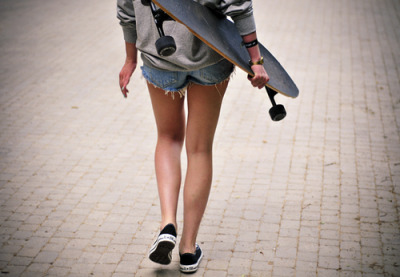 Long board babe.