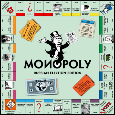 malinkibear:  russianfederation:  euralmanac:  Russian election Monopoly board  (via The Poke) Dear Santa…  I require this.  Why did it have to be my birthday four days ago?  Someone buy this for the Russian house.