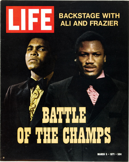 life:  On this day in LIFE Magazine… Backstage with Ali and Frazier: Battle of the Champs