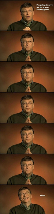Bill Gates saving up for Lamborghini (via Imgur)
