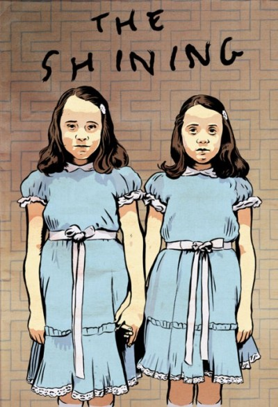 The Grady twins from The Shining, by cartoonist David Lasky. (via Lee Unkrich)