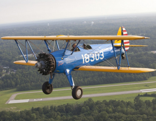 Tuskegee Airplane, Boeing-Stearman PT-13D Kaydet, c. 1944 This vintage, open-cockpit biplane was used at Alabama's renowned Tuskegee Institute to train Black fighter pilots during World War II. From Memorabilia from National Museum of African American History & Culture