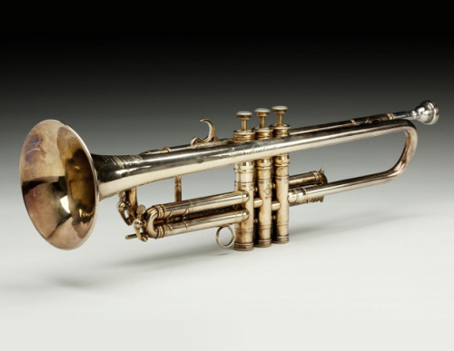 "Louis Armstrong's Selmer Trumpet; Paris, c. 1930 Owned By Louis ""Satchmo"" Armstrong, considered an improvisational genius in jazz who taught the world to swing. From Memorabilia From National Museum of African American History & Culture"