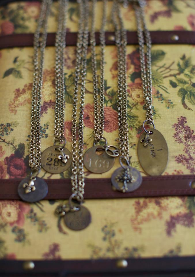 Some of my favorite pieces of jewelry are those that have their own stories, touched others in time, and seen more than I have. These vintage designs by Tammy Auther are exactly that. Miner's TagsIn the early 1900's when the mines were flourshing, each miner marked his entrance to the mine by placing a numbered tag over a hook. By doing this everyone knew which miners where down in the mine. When all the tags were off the hook at the end of the day, all the miners were up and safely out of the mine. Each tag represents a piece of America history. These pieces are sold at Dragonfly Shops & Gardens in Orange.   If you interested in contacting me directly, please ASK ME ANYTHING by posting here or visit my fb page http://www.facebook.com/LuxByLisa.