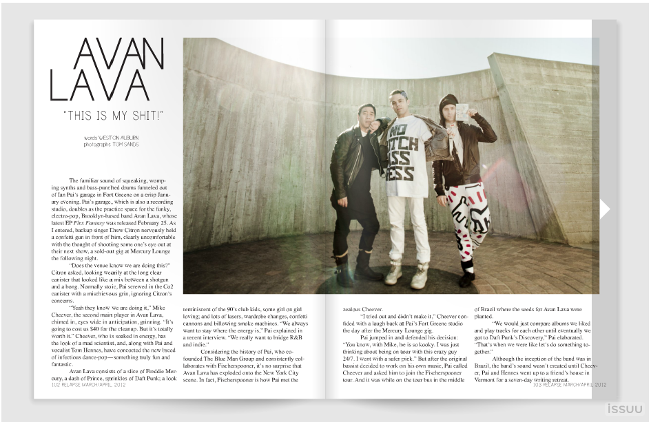 My article on Avan Lava is in the new issue of Relapse Magazine. Check it out! </3