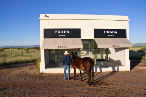 Prada Marfa Cowboy and Mule by Gray Malin.