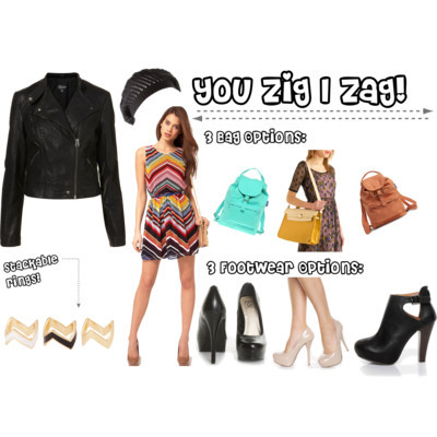 You Zig I Zag by littlemissthrifty featuring zigzag jewelry