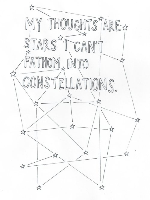 (quote by John Green, 'The Fault in Our Stars') (illustration by unknown)
