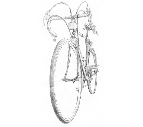 Sketched my bike today because it's too snowy to ride it outside. Sigh