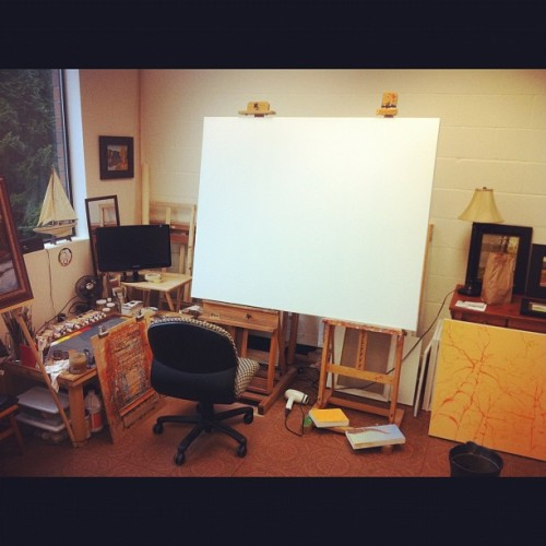 "Getting ready to start a 48""x60"" painting this week. But you won't be able to see it till May!  (Taken with instagram)"