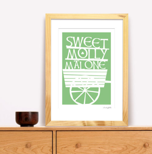 Sweet Molly Malone poster from FunkyGibbo. I love this! :)