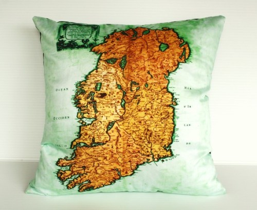 Ireland map pillow from My Bearded Pigeon.