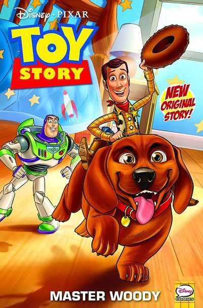 Market Monday Toy Story #1, written by Tea Orsi, art by Teresa Quezada-Geer  All-New Four Issue Mini Series! New Adventures Featuring Woody, Buzz Lightyear And More! Andy's New Puppy, Buster, Loves To Play With The Toys - But If Woody, Buzz And The Gang Can't Control The Playful Pooch, All That Chewing And Shaking Will Damage Them For Sure!