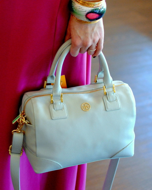There is nothing better than a tiny light blue @toryburch satchel!