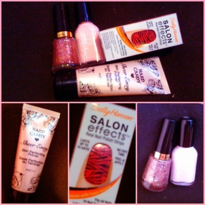 Baby #haul #me #Sallyhansen #nails #hardcandy #pink #cute #girlyshit (Taken with instagram)