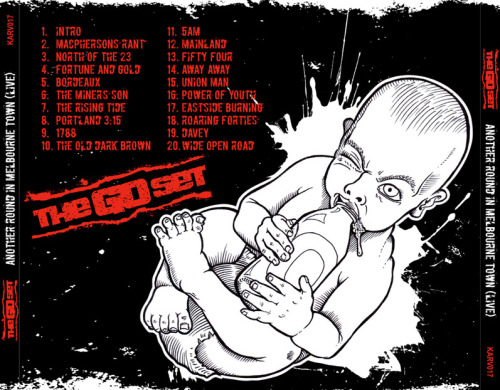 And here is the back cover art. Another baby drinking beer - cute huh? There was also an entire inside booklet that I created, but its probably not worth posting. Just photos and stuff.