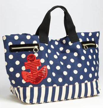 And here is Betsey Johnson's annual anchor-laden tote, also from Nordstrom.