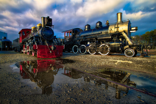Train Puddles by Brett Kiger on Flickr.
