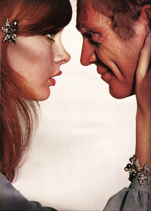 Jean Shrimpton and Steve McQueen, Harper´s Bazaar, 1965 photographed by Richard Avedon + art direction by Ruth Ansel