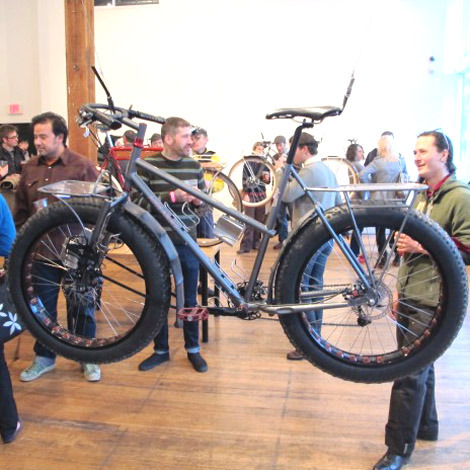 Joseph Ahearne's latest creation is a crazy-cool snow bike, the kind of machine that's clearly not about sales or chasing a market, but a build that happens because of plain old desire.