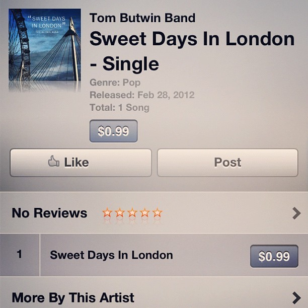 Peddling. #london #blues #itunes #tombutwin #tombutwinband #music #londoneye #gibson #guitar #organ #b3 (Taken with instagram)