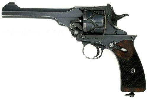 thegunlocker:  Webley-Fosbery Automatic Revolver. Found this on Wikipedia, one of the worlds most unusual revolvers to be sure. It is recoil operated, semi automatic. Upon firing, the entire barrel, cylinder, hammer, and upper frame assembly recoil to the back of the revolver, cocking the hammer and rotating the cylinder via the grooves etched in the cylinder. Caliber .455 Webley or .38 ACP  This is the most amazing wonderful thing in the world! Here is a video to add tot he gloriousness: http://www.youtube.com/watch?v=HSPIhHFtLX0
