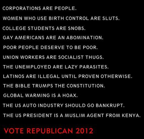 Vote Republican 2012