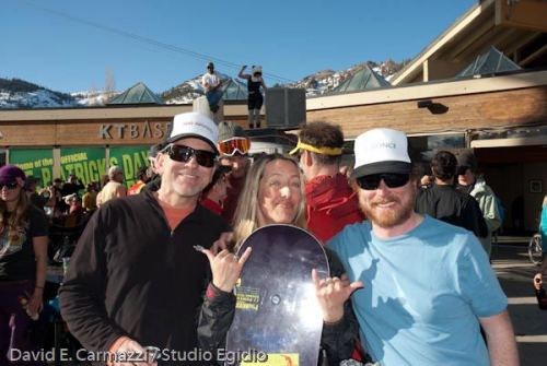 Me with Sky Rondenet and Eric T at the Rahlves' Banzai Squaw Valley stop.