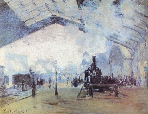 must-be-the-monet:  Claude MonetSainte Lazare Train Station, 1877French, The Art Institute of Chicago