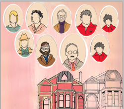 Royal Tenenbaums so far. I need to add a house to the left and the title. This isn't the entire image, P.S.
