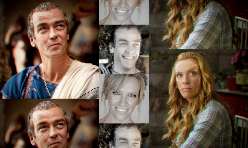 Spartacus: Genderswap  ◆ Toni Collette as Quintus ((Some of these are better quality than others. All I had was MS Paint and Lightroom to work with. I picked Toni for Quintus because of their similar face shape, long and oval, and for those gorgeous blue eyes. Not to mention their eyebrows and smiles are very much alike.))