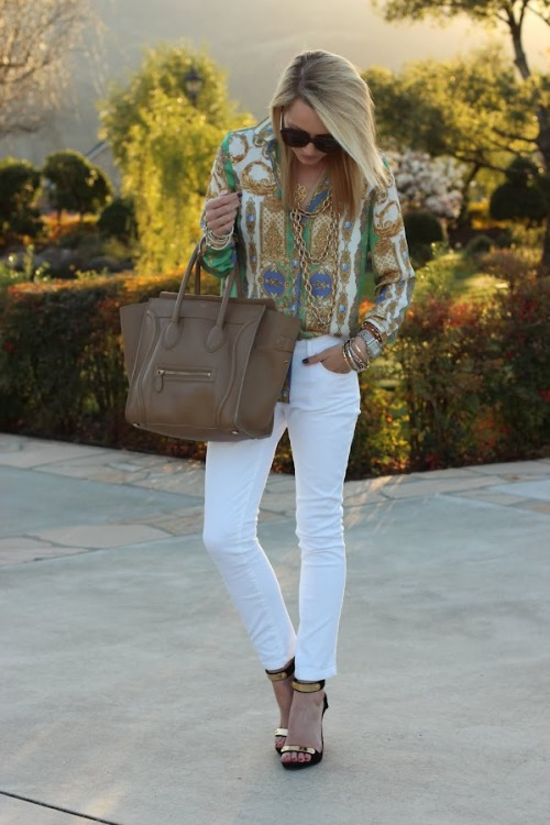 what-do-i-wear:  Top: Zara. Purse: Celine. Sunglasses: Karen Walker. Shoes: Tory Burch. Denim: Zara. Jewelry: David Yurman, Saks 5th, BR, GAP, Jcrew, YSL, Michele Watch. (image: atlantic-pacific)