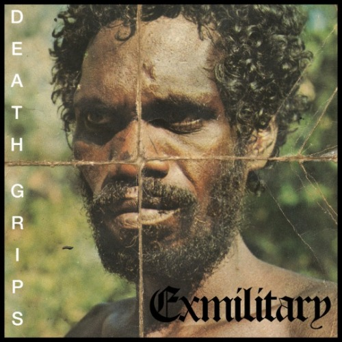 Death Grips - Ex Military  Get scared. Get really scared. This is Death Grips. Death Grips is a California hip-hop group who've put themselves out there with minimum information and a lot of underground hype. The disclaimer that goes with this artist is of its over-bearing…loudness. Much like Sleigh Bells or Odd Future, these guys approach a genre with wildness. But where Sleigh Bells translate volume into style and Odd Future mold social commentary out of abrasive attitudes, Death Grips is much more grizzly with their agenda.  With their debut release, Ex Military, there is a bold proposition both in a philosophical and contemporary context presented. On a first interpretation, Death Grips can feel like a radical group of anarchists at a music festival, waving their violent and freakish flag in a corner whilst the majority walks right by it with no serious regard. But there's much more relevancy and meaning to what may just seem like a gimmicky 'shock value' artist. The album can be represented, as a whole, through three of its most pivotal tracks. The first, Guillotine (It Goes Yah), is a dense and heavily abstract track that tips the scale back and forth between spoken word and hip-hop. The most prominent feature of the song is its basic yet unforgettable beat that sounds like God stomping its foot on the world and you hearing it thousands of miles away. It's a viciously dark track that suffocates you with its claustrophobic production and themes of suicide, not to mention, a terrifying music video to boot. The next is Ex Military's main single: Takyon (Death Yon), a monumental track for the album and Death Grips' uncontrollable style. It follows closely to Guillotine, yet it packs all the punches you wouldn't think it dared to. This is seriously as close as hip-hop will get to punk while placing both attitudes on full throttle. Towards the end of Ex Military is where Death Grips averts from the obtuse abstractness and makes sense of their motives more on the track, I Want It I Need It (Death Heated). The song works as a work of prose about our generation's filthy urges for pleasure; sex, drugs and repeat until you die. It helps to place the entire album in a certain perspective in our minds.  Ex Military is an album that needs to be talked about. From any possible interpretation made, this is a release that will definitely leave a mark on your psyche; some harder than others. If you're in need of a defibrillator doused in gasoline charged to your forehead, Death Grips might be your musical match. This is not for the faint of heart, but for anyone else, Ex Military is a seriously urgent piece of art that'll knock you out cold.    This album was my dad. (9/10) ———————————————————————- Follow us! Entertainment review blog: That's My Dad  Tumblr: http://itwascoolandfunny.tumblr.com/ Twitter: @itsmydad