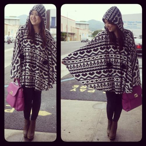 bambooskyhawaii:  Ponchos are perfect for rainy weather  And for winter this year! Come into dear pluto for all your cape and poncho needs. Shop located in Surry Hills, come in and say hello.