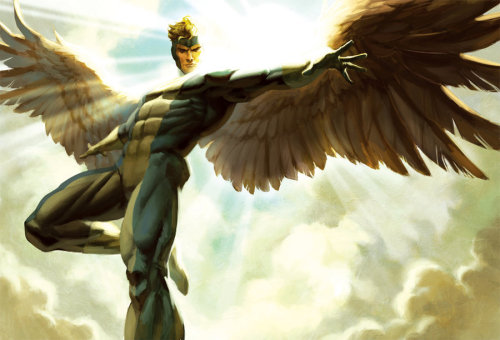 superlyawkwardly:  Marvel Angel Print by bigmac996